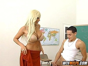 Hot blonde MILF teacher fuck fantasy 2