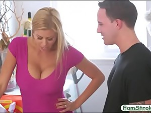 Big tits milf gets banged by her stepson