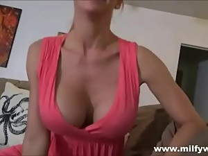 Hot Milf Taking cum of his step mom