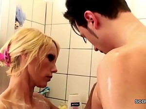German MILF Seduce to Fuck by Step-Son..
