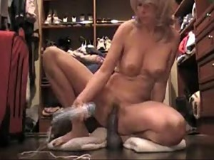 stepson watches stepmom cum on dildo