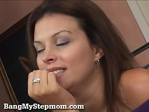 Horny MILF and Her Stepson Hook Up!