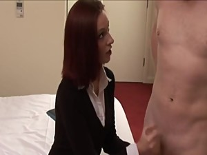 mum punishes and gives handjob her son -..