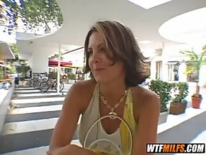hot brunette milf picked up in miami..