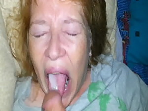 real son feeds his mom cum and she eats..