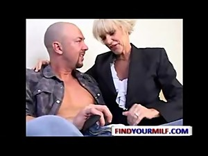 Mature Mrs.Lott seducing young guy