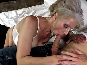 Hot mature mother fucked by young not..