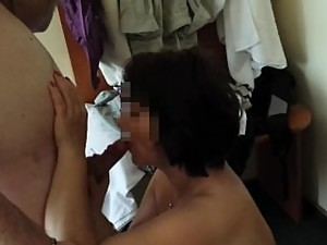 Hot Blowjob In A Hotel Room Mom And Step..