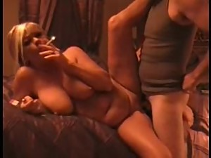 Hot dirty talking blonde smoking milf..