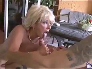 Mature Blonde Mom and Son