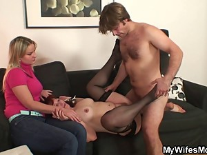 Her husband is fucking her mom