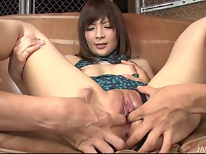 Asian mom Riona Suzune creampied by 2..