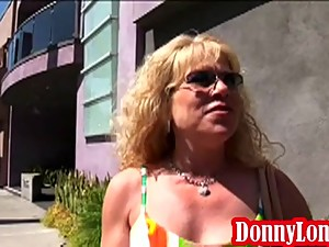 Donny Long and friend teach milf mom a..