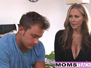 MILF Julia Ann Threeway With Step-Son..