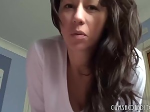 POV son wake up with his mother and suck..