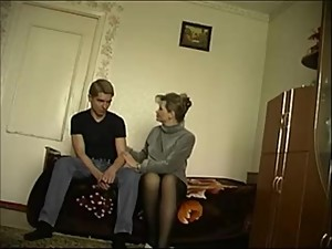 Russian mother with her son part 1