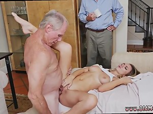 Old man fucks mom and friend's daughter..