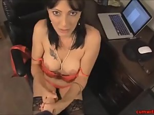 MILF In Black Stockings POV Jerk..