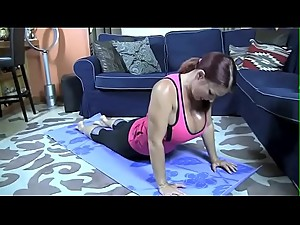 Mommy JOI while doing yoga - more JOI..