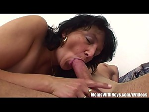 Stepson Restrained By Brunette Horny..