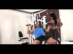 Sexy Hot Moms Workout Fitness at GYM..